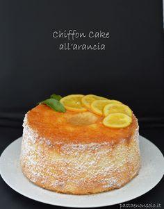 Chiffon cake all'arancia - Pasta e non solo! Italian Desserts, Italian Recipes, Cake Cookies, Cupcake Cakes, Almond Paste Cookies, Sweet Recipes, Cake Recipes, Tall Cakes, American Cake