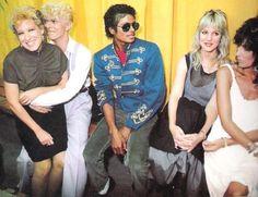 Bette Midler, David Bowie, MJ, Suzie Ronson and Cher.