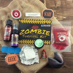 The #Halloween Fortune Cookie Soap #box is here! I'm not even sure where to start - I #LOVE it all!! The scents are #perfect for #fall and that night of #candy. My most #favorite box from them yet. The packaging was  #onpoint for the #zombie survival kit theme. So #amazing! #subscriptionboxes #subscriptionbox #subscription #fcssoapbox #fortunecookiesoap #fortunecookie #soap #beauty #skincare #zombiefcs #fcs #blood #gore #horror #bath #bathtime #makeup by subboxgirl