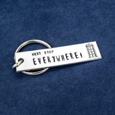Doctor Who - Tardis - Next Stop Everywhere - Aluminum Key Chain