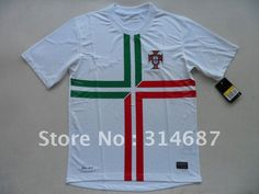 Wholesale TOP Thailand Quality 12-13 Portugal Away White soccer jersey,Soccer Shirts,embroidered logo,Dry-Fit on AliExpress.com. $95.00