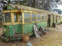 Tram No. 529, a W2 class tram built about 1928. It went to the Cottage By The Sea at Queenscliff. Before it was sold, the BTM recovered the green blinds which are now in use in our tram 671. The tram then went to a farm near Colac, and listed for sale on eBay in November, 2014