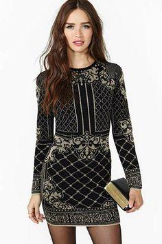 Dark Charms Sweater Dress - Lyst