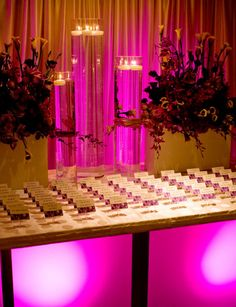 Purple/Purple Upscale, elegant Bat Mitzvah in Philly - Ty blog.evantinedesign.com - Lighting makes such a difference!