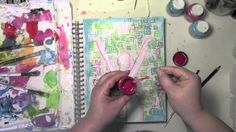Stenciling an Art Journal Page with Carolyn Dube - YouTube