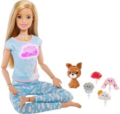 Check out Breathe with Me Barbie Doll featuring five guided meditation exercises. Explore more wellness dolls at our Barbie shop today! Mattel Barbie, Barbie Shop, Barbie Doll House, Barbie Dolls, Barbie Stuff, Barbie Life, Barbie Fashionista, Toys R Us, Buy Toys