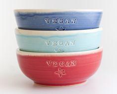 Vegan Dish Bowl by Jeanette Zeis - The Herbivore Clothing Co. Vegan Market, Vegan Gifts, Vegan Fashion, Vegan Lifestyle, Vegan Dishes, Gift Guide, Vegan Recipes, Vegan Style, Animal Rights