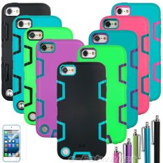 PC Shockproof Dirt Proof Hybrid Rugged Hard Case Cover for iPod Touch 5 5th Gen