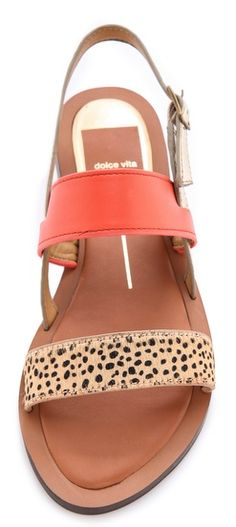 coral strap sandal with a hint of leopard Cute Shoes, On Shoes, Me Too Shoes, Shoe Boots, Strap Sandals, Shoes Sandals, Heels, Summer Shoes, Summer Sandals