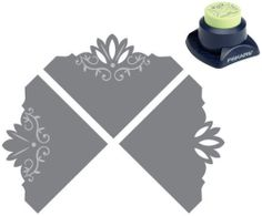 Fiskars Ivy Blossom Combo Corner Paper Punch 12-2388