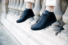 Core Collection, Classic Leather, All Black Sneakers, Legs, Spring, Shoes, Style, Fashion, Moda