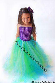 Ready To Ship - Mermaid Tutu Dress - Birthday Outfit, Halloween Costume 12M 2T 3T 4T 5T 6 7 8 10 12 - Purple Princess Inspired - Green Blue by OnceUponATimeTuTus on Etsy https://www.etsy.com/listing/108979018/ready-to-ship-mermaid-tutu-dress