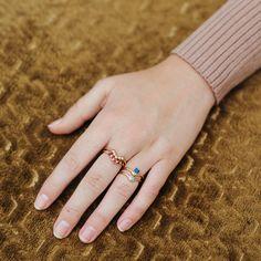 Sapphire Suspension Ring – Dani Barbe