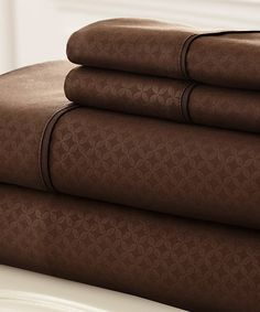 Loving this Chocolate Soho Sheet Set on #zulily! #zulilyfinds