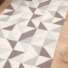 Tapis / Descente de lit 100% coton motif triangles Mysig