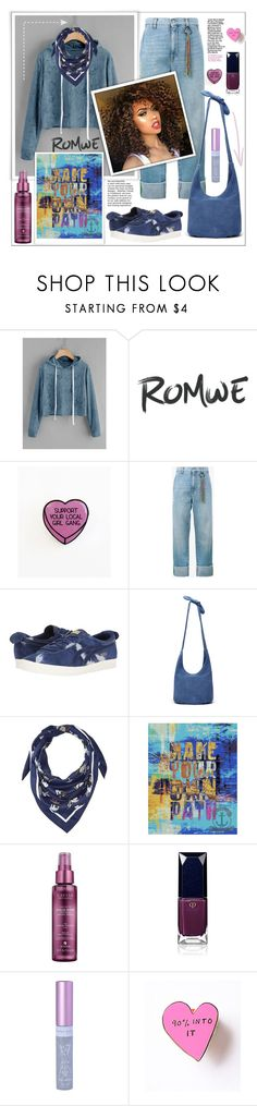 """""""Romwe.Velvet Drawstring Crop Hoodie"""" by natalyapril1976 ❤ liked on Polyvore featuring Mira Mikati, Onitsuka Tiger, Thacker, BCBGeneration, Alterna and Clé de Peau Beauté"""