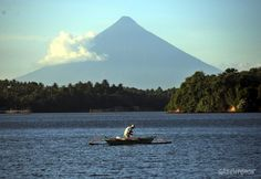 On World Oceans Day: Life in Donsol and Pilar, Sorsogon  A view of the famous Mayon volcano from San Miguel Island.