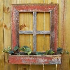 Country wood crafts decorative rustic barn wood frame window box projects t Old Wood Crafts, Country Wood Crafts, Country Decor, Barn Board Projects, Wood Projects, Woodworking Projects, Woodworking Plans, Old Barn Wood, Rustic Barn
