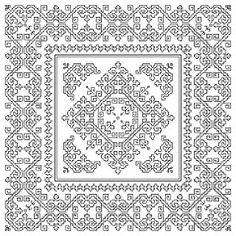 knit ... stitch ... crochet: Blackwork Freebie