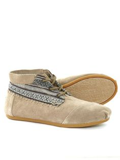 Toms  Tribal Boot Mixed Suede Shoe in Mixed Taupe Suede