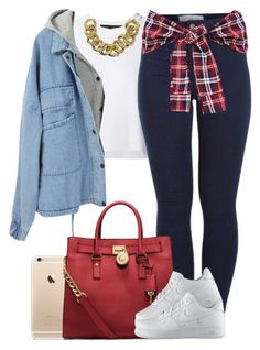 """""""Red. ❤️"""" by livelifefreelyy ❤ liked on Polyvore featuring Proenza Schouler, Pieces, MICHAEL Michael Kors, ASOS and NIKE"""