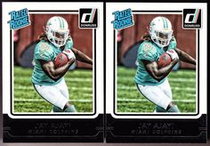 MIAMI DOLPHINS LOT OF 2 2015 DONRUSS RATED ROOKIES JAY AJAYI FREE SHIPPING