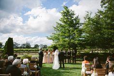 Centennial Vineyards Bowral garden wedding ceremony. Image: Cavanagh Photography http://cavanaghphotography.com.au