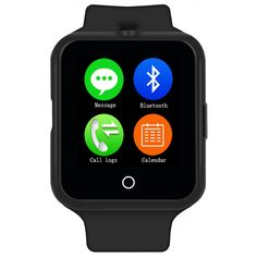 D3 Bluetooth Smart Watch for Apple or Android with Camera and Heart Rate Monitor