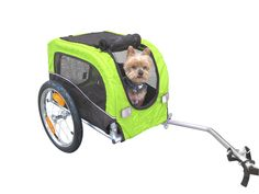 Booyah Small Dog Pet Bike Bicycle Trailer Pet Trailer Green