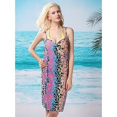mujeres cadena Up traje las Reino profundo Beachdress sexy Bikini la para impresión baño traje de Moda amarillo baño de Unido de Cover de V FTgax