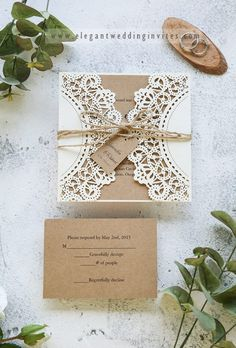Rustic laser cut wedding invitation with tag Inexpensive Wedding Invitations, Spring Wedding Invitations, Inexpensive Wedding Venues, Laser Cut Wedding Invitations, Wedding Stationery, Typography Invitation, Invitation Cards, Fishing Wedding, Wedding Catering