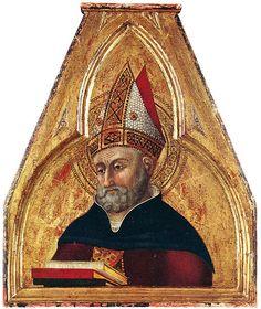 Il Sassetta (Stefano di Giovanni) - Sant'Agostino, (polittico di San Francesco) - 1437-1444 - collezione privata