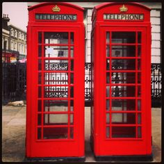 Old fashion phone booth