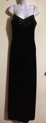 Dave And Johnny By Laura Ryner Size 9/10 Black Shimmer Sparkle Velvet Dress Long                            $60