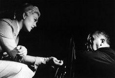Kim Novak  & Alfred Hitchcock on the set of Vertigo (1958)