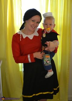Popeye and Olive Oil - 2013 Halloween Costume Contest Dominic's and I's halloween costume what do you think? @Mishel Phay