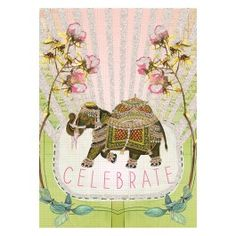 Fancy Elephant 5x7 Card