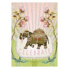 Fancy Elephant 5x7 Card