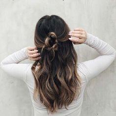 Enkel og fin hverdagsfrisyre.#everydayhair #hverdagsfrisyre #brunthår #hår #brownhair #hairinspo