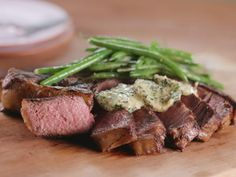 Get Seared Steak and Green Beans with Herbed Butter Recipe from Cooking Channel