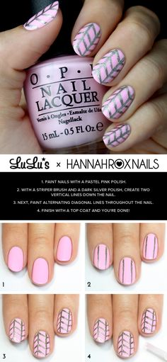 Mani Monday: Pastel Pink and Herringbone Nail Tutorial at LuLus.com!