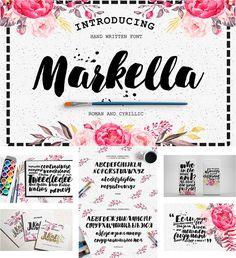 Markella font with cyrillic typeface
