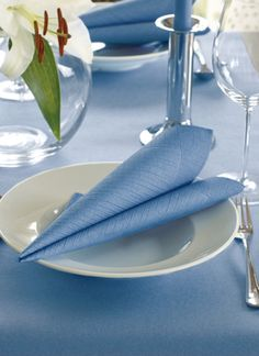 midblue napkin and tablecover - elegant and beautiful