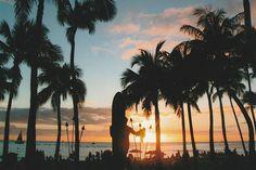 A Stunning Sunset Over Waikiki Beach Saluting The Duke
