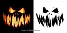 10 Free Scary Halloween Pumpkin Carving Patterns, Stencils & Printable Templates 2016 - Real Time - Diet, Exercise, Fitness, Finance You for Healthy articles ideas Pumpkin Stencils Free Printable, Pumpkin Template, Pumpkin Carving Templates, Printable Templates, Free Printables, Scary Pumpkin Carving Patterns, Cute Pumpkin Carving, Pumpkin Carving Contest, Pumpkin Carvings