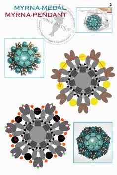 MYRNA Pendant - FREE Tutorial by Ewa Design. Page 3 of 5