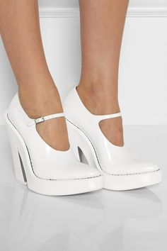 Alexander Wang | Manuel leather platform Mary Jane pumps | NET-A-PORTER.COM