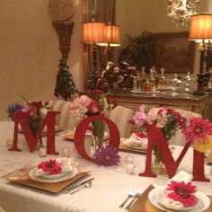 I know its not beach themed but its still cute! Mothers Day Table