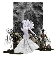 """Gothic Wedding:Runaway Bride"" by sotrue-creatoure-of-stylee ❤ liked on Polyvore featuring art"
