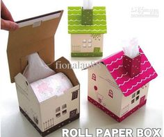 home decor with cardboard boxes | Paper Tissue Box Holder Tissue Sets Home Decor Craft Tissue Boxes ...